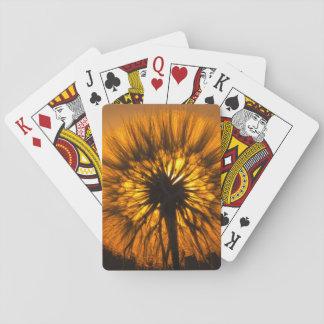 Cartes À Jouer Coucher du soleil de pissenlit