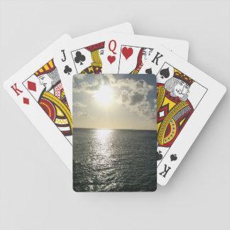 Cartes À Jouer coucher du soleil sur les cartes de jeu d'océan