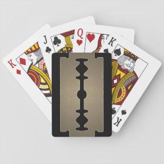 Cartes À Jouer Couverture pointue d'or de lame de rasoir