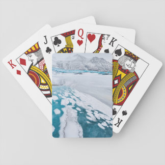 Cartes À Jouer Glace congelée de glacier, Islande