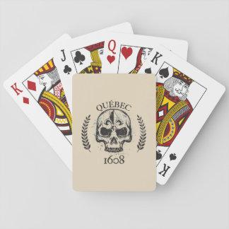 Cartes À Jouer Jeu de carte Quebec biker skull/crane grunge