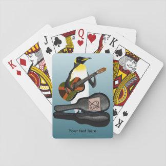 Cartes À Jouer Jouer de la musique de pingouin