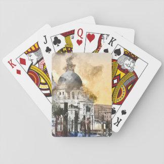 Cartes À Jouer Le canal grand à Venise Italie