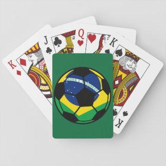 Cartes À Jouer Le football de drapeau brésilien