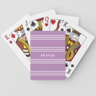 Cartes À Jouer Le lilas barre les cartes de jeu faites sur