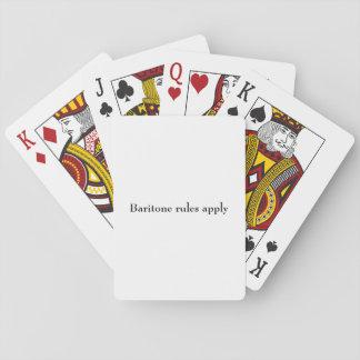 """Cartes À Jouer Les """"règles de baryton appliquent"""" des cartes de"""