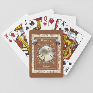 Cartes À Jouer Libellule - cartes de jeu classiques d'illusion
