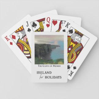 Cartes À Jouer L'Irlande pendant des vacances - les falaises de
