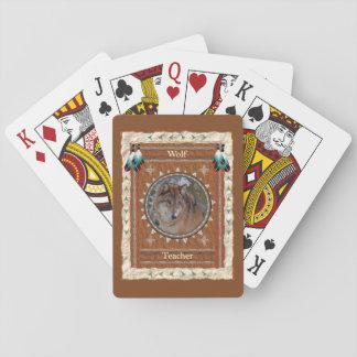 Cartes À Jouer Loup - cartes de jeu classiques de professeur