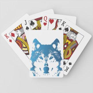Cartes À Jouer Loup de bleu glacier d'illustration