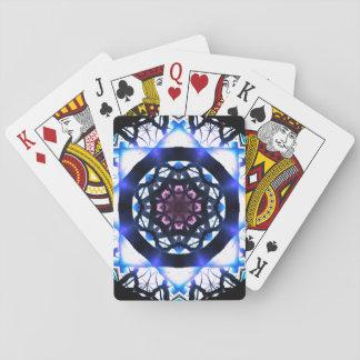 Cartes À Jouer Mandala vibrant de lumière d'étoile