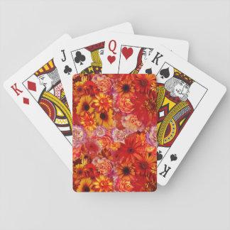 Cartes À Jouer Marguerites d'un rouge ardent riches de bouquet