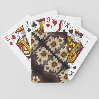 Cartes À Jouer Marguerites sur le brun