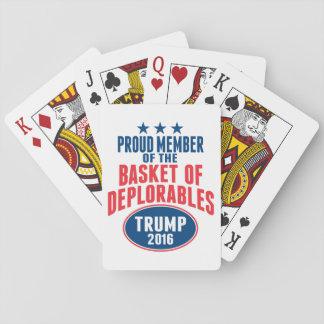 Cartes À Jouer Membre fier du panier de Deplorables - atout