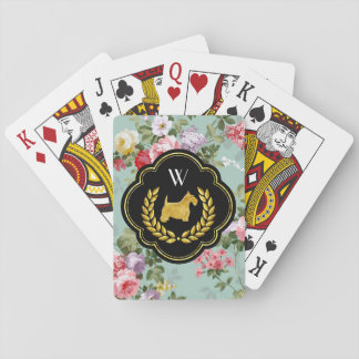 Cartes À Jouer Monogramme de gain de main de Scottie royal