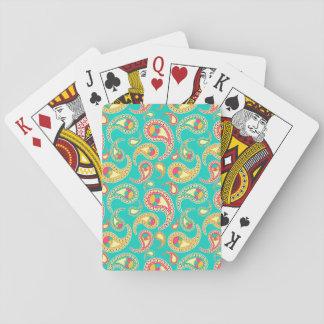 Cartes À Jouer Motif vintage coloré mignon de Paisley