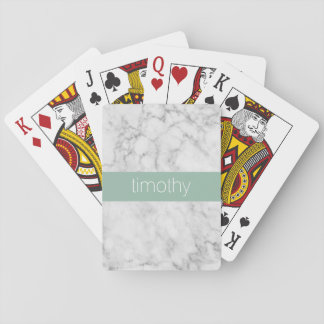 Cartes À Jouer Nom de marbre gris et en bon état de coutume de