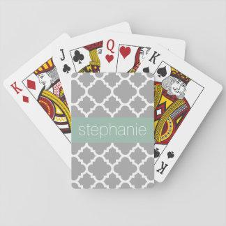 Cartes À Jouer Nom gris et en bon état de coutume de motif de