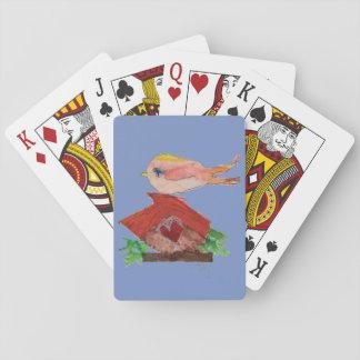Cartes À Jouer Oiseau sur des cartes de jeu de volière