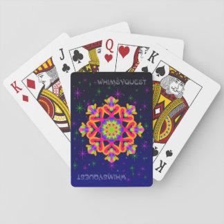Cartes À Jouer Orange 2 de cartes de jeu de kaléidoscope de