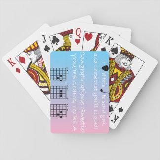 Cartes À Jouer Papa de félicitations - musique - guitare - cartes