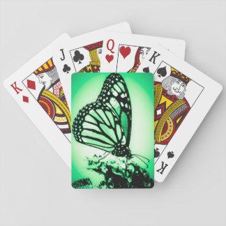 Cartes À Jouer Papillon de monarque, vert