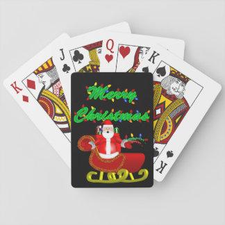 Cartes À Jouer Père Noël dans ses cartes de jeu de Sleigh