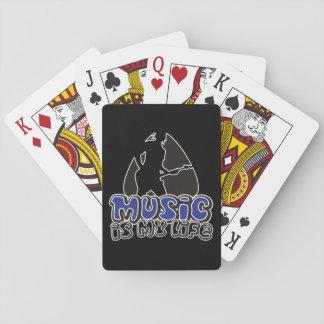 Cartes À Jouer Plectre de guitariste - la musique est ma vie