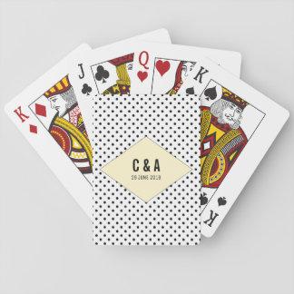 Cartes À Jouer Pois moderne jaune épousant des cartes de jeu