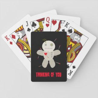 Cartes À Jouer Poupée foncée de vaudou bourrée par Goth