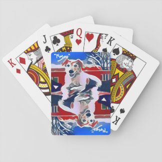 """Cartes À Jouer """"Rapièce"""" le rouge, blanc et le bleu - cartes de"""