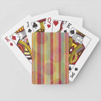 Cartes À Jouer Rayures et cercles multicolores