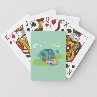 Cartes À Jouer Rétros cartes de jeu suburbaines de Chambre