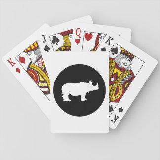 Cartes À Jouer Rhinocéros
