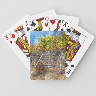 Cartes À Jouer Vignoble en automne dans Napa Valley la Californie
