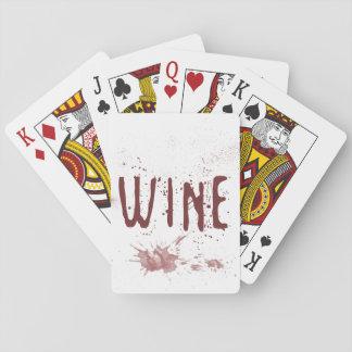 Cartes À Jouer Vin