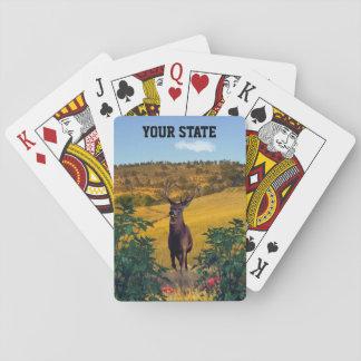 Cartes À Jouer Vos cerfs communs de mâle d'état