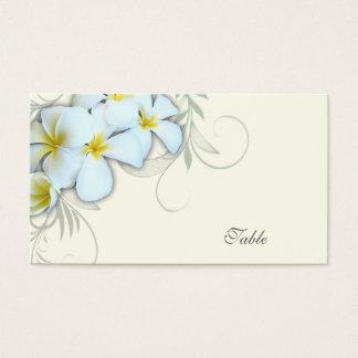 Cartes blanches d'escorte de blanc de Plumeria