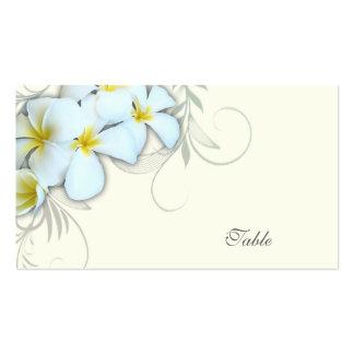 Cartes blanches d'escorte de blanc de Plumeria Carte De Visite Standard