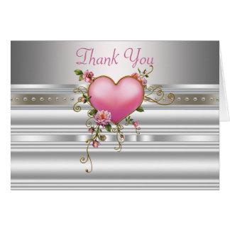 Cartes blanches roses de Merci de RosecSilver