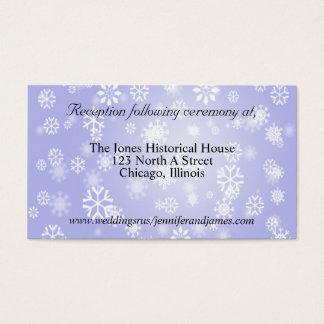 Cartes bleues de clôture de mariage d'hiver