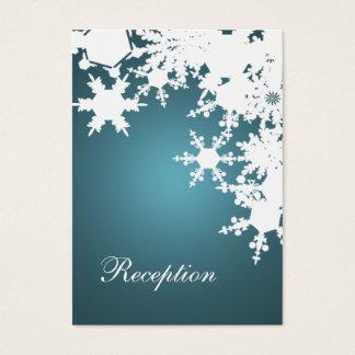 cartes bleues de réception de mariage d'hiver de