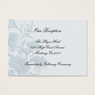 Cartes bleues florales d'insertion de réception