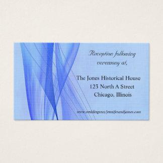 Cartes bleues modernes de clôture de mariage