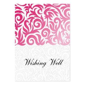 cartes bonnes de souhait roses modèle de carte de visite