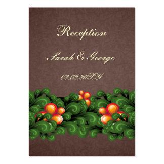 cartes brunes vertes de réception de mariage cartes de visite professionnelles