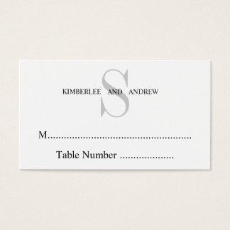 Cartes crèmes d'allocation des places de mariage carte de visite standard
