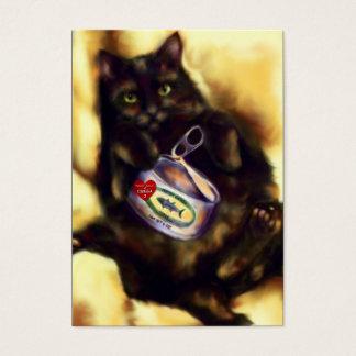 Cartes de collection de trop d'art de thon (chat)