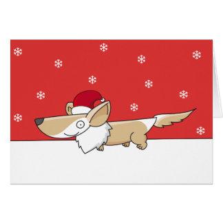 Cartes de corgi de Noël