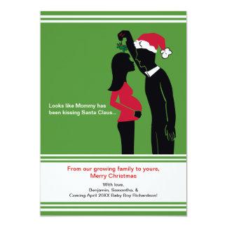 Carte cartes de faire-part de grossesse de Noël 5x7 -
